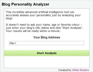 Blog Personality Analyzer