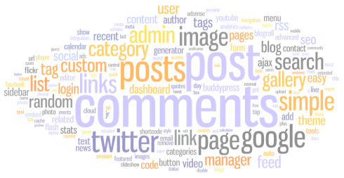 Plugin name tag cloud (filtered)