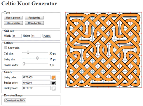 Celtic knot generator screenshot